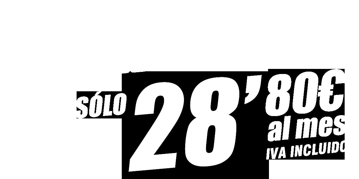 FIBRA + MÓVIL POR SÓLO 28,80€