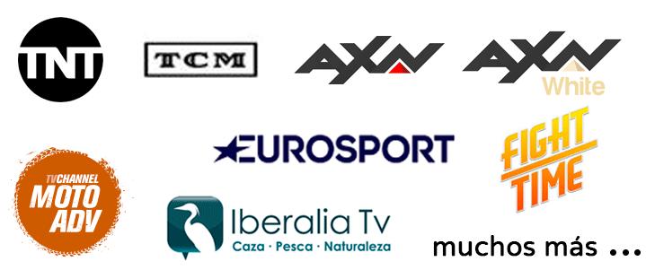Todos los canales de televisión que quieras: Eurosport, TNT, TCM, AXN...